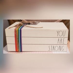 """Rae Dunn """"You are strong"""" decor"""